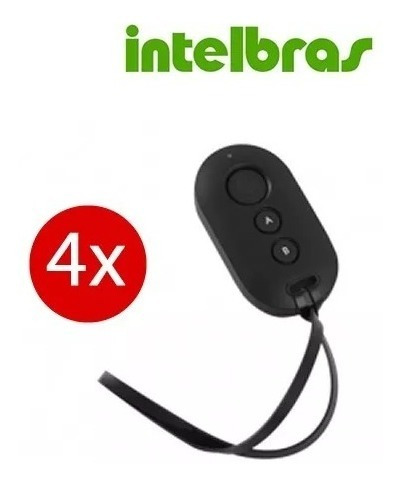Kit 4 Controles Remoto Alarme Intelbras Xac 4000 Smart Preto