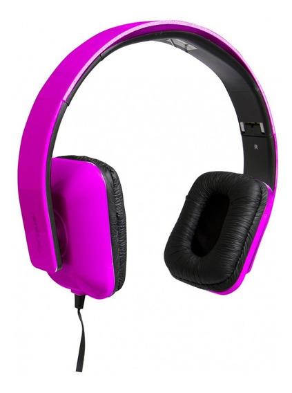 Fone De Ouvido Tipo Headphone Dobrável Com Microfone Pink