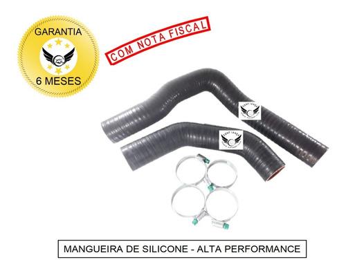 Kit Mangueiras Intercooler L200 Gls Quadrada Silicone Com Abraçadeiras