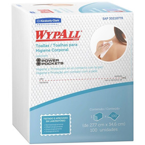 2 Pacotes Wypall P/higiene Corporal X60 C/100un Banho Leito