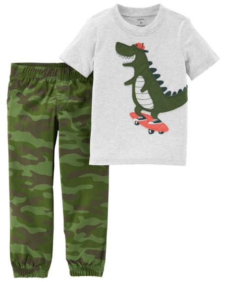 Carters 2 Pçs Camiseta Calça Menino 100 % Algodão - 229g844