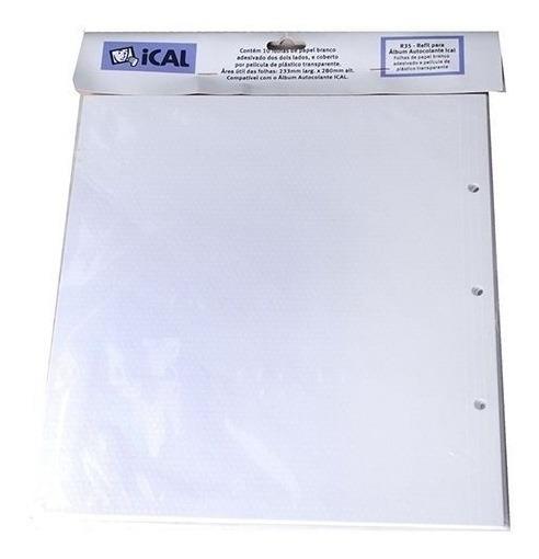 Refil Para Álbum Adesivo Ical - 10 Folhas R35