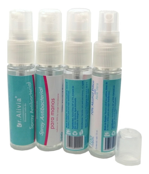 Mini Gel Antibacterial En Spray Precio Mayoreo 50 Piezas