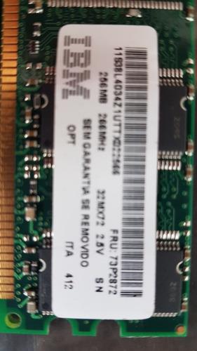 Memória Ibm 256 Mb, 266 Mhz, 32 Mx72 2.5v