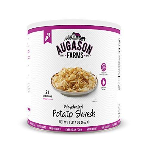 Las Granjas De Augason Dehydrated Shreds De Patata, 23 Oz