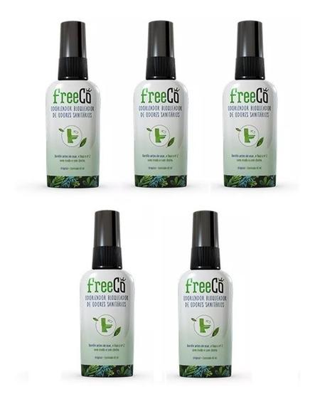 Kit C/ 5 Freecô Bloqueador Odores Sanitários Nº 2 Sem Medo