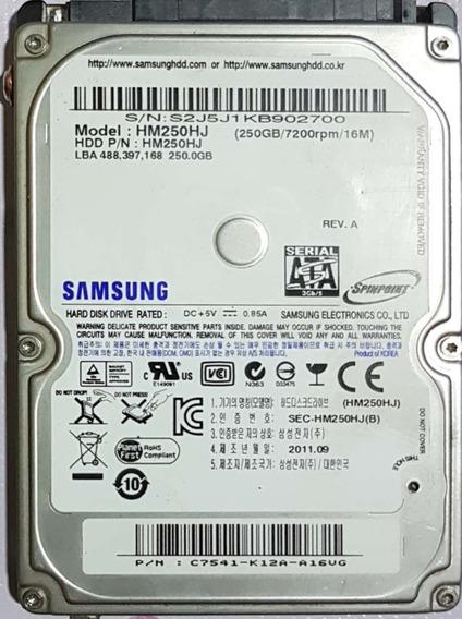 Hd Samsung 250gb Notebook Hm250hj 7200rpb 16mb Oferta
