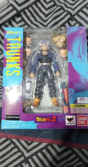 Mirai Trunks V1 Sh Figuarts Bandai Original Boneco Dbz