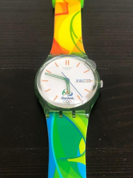 Relógio Swatch Comemorativo Jogos Olímpicos Rio 2016