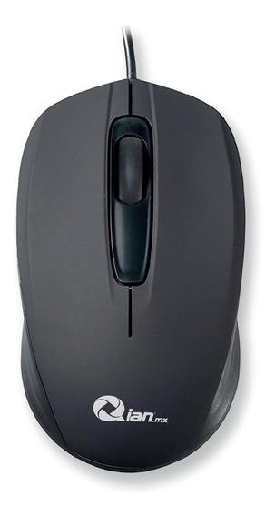 Qian Qama18001 Mouse Óptico Dian, Usb, 1200dpi, Negro