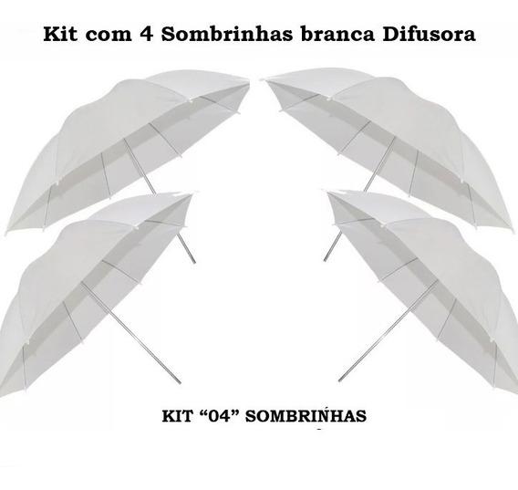 Kit 04 Sombrinhas Difusora Branca