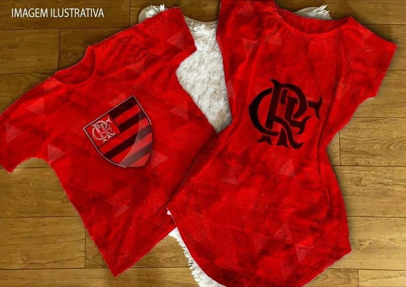 Kit Casal Estampa De Time Vestido+camiseta Cod02