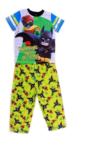 Pijama Lego Para Niño De Batman Y Robin Into Action Verde