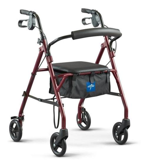 Andadera Ortopedica Básica Acero Asiento Hasta 158k Rollator