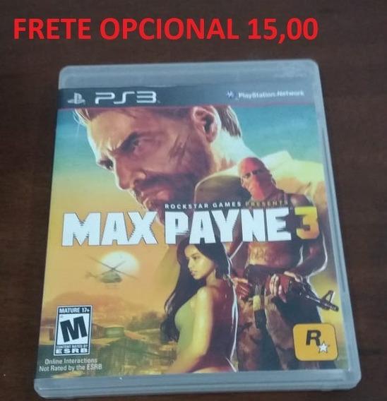 Max Payne 3 - Ps3 Original - Mídia Física