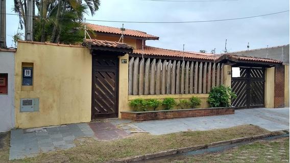 Linda Casa Com Piscina 4 Dormitórios Lado Praia Itanhaém Sp