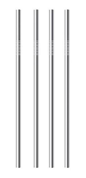 Popote Metal Acero Inoxidable Recto 5mm Pajilla Ecologico Bebidas /e