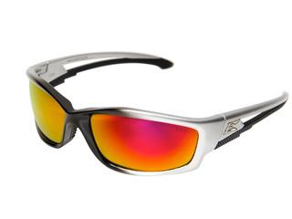 Edge Eyewear Skap119 Kazbek Safety Glasses, Black With Aqua