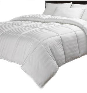 Plumón Semidoble Quilt Blanco 100% Fibra Silico *sin Estuche