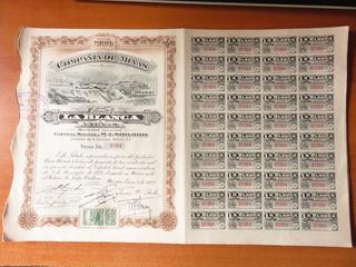 Accion Bono Antiguo 1922 Minas La Blanca Y Anexas Titulo