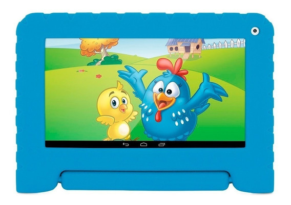 Tablet Galinha Pintadinha Quad Core 8gb Wifi Azul Multilaser