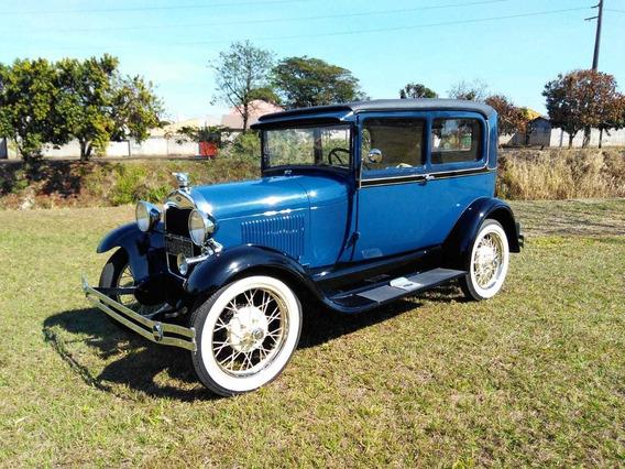 Ford Tudor Sedan 1928 Fordinho Mod. A Original Placa Preta
