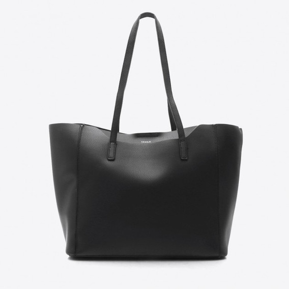 Blaque Cartera Shopping Bag Negra - Entran Cuadernos A4