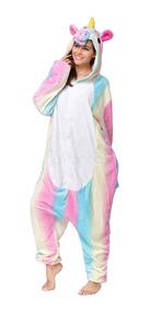 Pijama Kigurumi Frete Grátis Unicórnio Rainbow Arco-íris