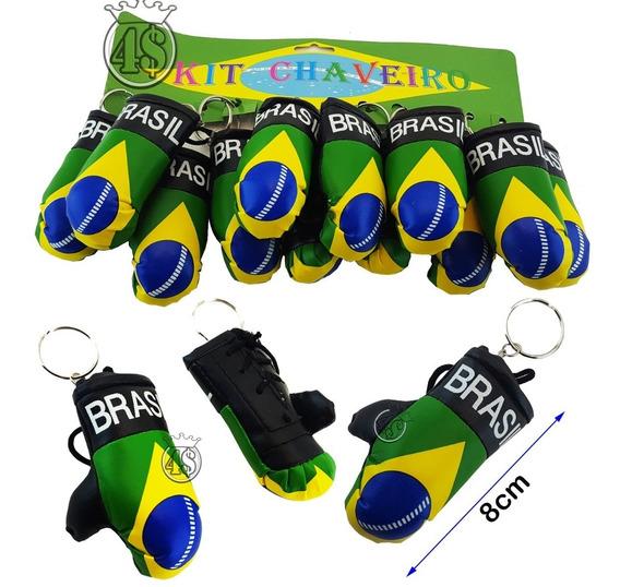 48 Chaveiro Luva Box Muay Thai Brasil Bandeira Atacado