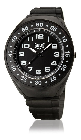 Relógio Masculino Caixa E Pulseira Pu Everlast E3031