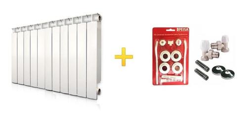 Imagen 1 de 9 de Radiador Peisa T500/80 11 Elementos + Kit Instalación