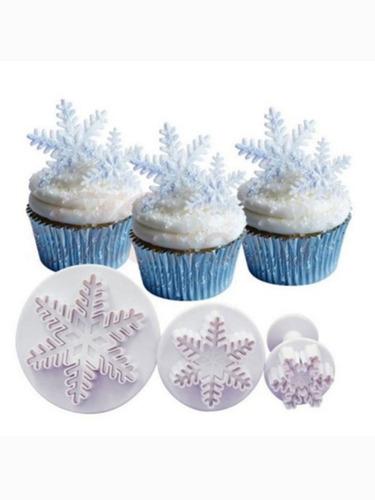 Set Cortante De Copos De Nieve Con Expulsor Frozen