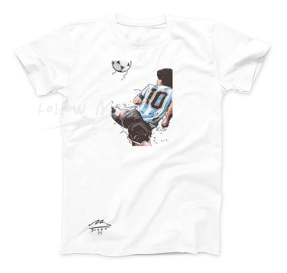 Remera Diego Maradona, El 10, Argentina, Exc Calidad Rosario