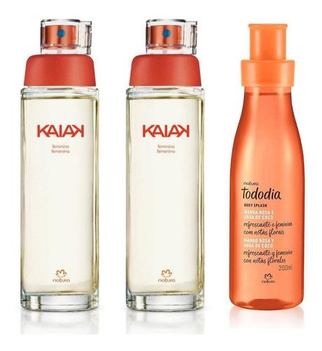 2 Kaiak Clásico + 1 Spray Mango Rosa Y Agua De Coco Natura