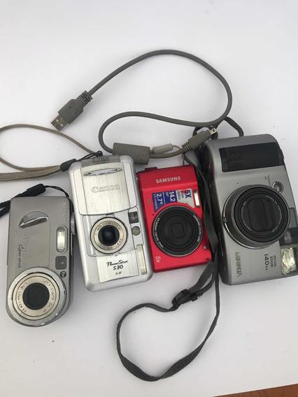 4 Câmeras, Canon, Sony, Samsung E Minolta ( Leia Descrição)