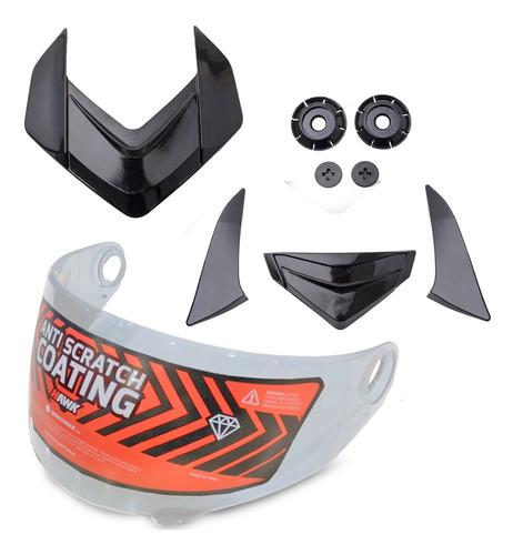 Repuesto Hawk Rs1 Kit Visor C/mecanismo Y Ventilaciones Of