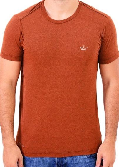 Camiseta Dri Fit 100% Poliamida Marrom