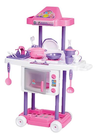 Cozinha Infantil Completa Menina Fogão Pia Calesita