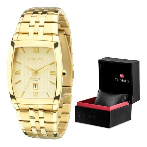 Relógio Technos Masculino Dourado 1n12mp/4x Prova D