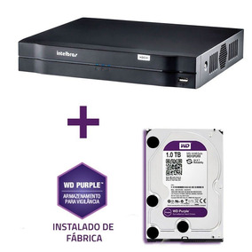 Dvr Intelbras - 8 Canais Multi Hd - 1tera De Hd - Wd Purple