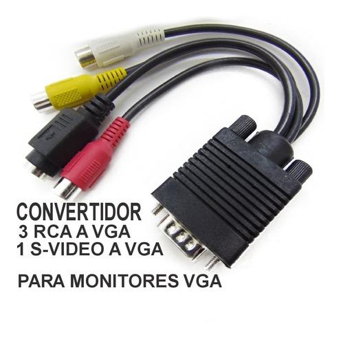 Cable Para Convertidor Svideo Rca A Monitor Vga