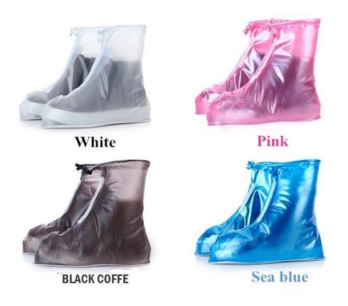 Imagen 1 de 10 de Botas Forros Funda Impermeable Contra Agua Lluvia Charcos Protectores De Zapatos Para Tenis Adulto Infantil Niños Unisex