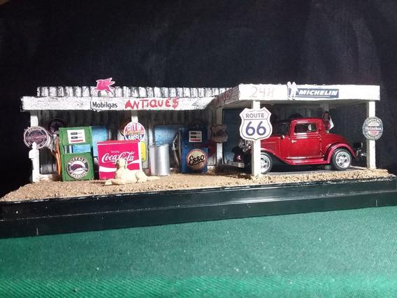 Diorama Antiques Miniatura Ford Coupe 32 C/ Caixa Acrilica