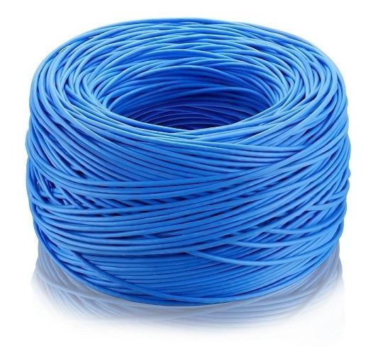Cabo De Rede Cftv 24 Awg 305m Azul Elgin