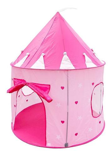 Barraca Infantil Brinquedo Toca Dobrável Rosa Menina