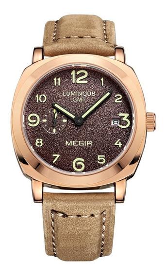 Reloj Cronografo Megir Modelo 1046rym - Original