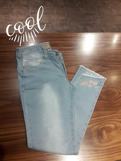 Jeans Chupin Tiro Medio Mujer Talle Especial 40/60