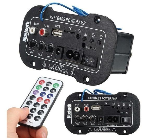 Placa De Som Amplificada Decodificador Mp3/bluetooth/usb-top