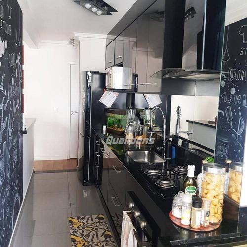 Apartamento Com 2 Dormitórios À Venda, 56 M² Por R$ 282.000,00 - Vila Assis Brasil - Mauá/sp - Ap0320