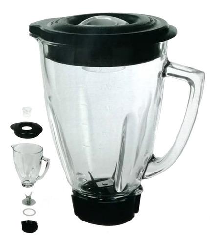 Vaso Cristal 1.5l Cuchilla Kit Completo Licuadora Tipo Oster